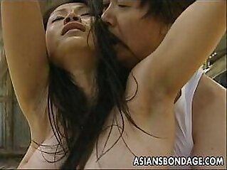 Asian bitch roped up so the man can fuck her   amateur asian ass ass lovers