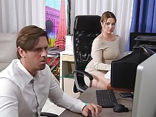 Cock sucking at the office gives busty Nikky Dream chills of pleasure   blowjob busty cock cock sucking